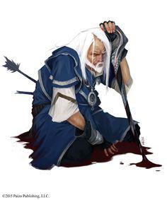 Dying Mage Inside Days Robes Fantasy Art Warrior Wizard Pathfinder Rpg