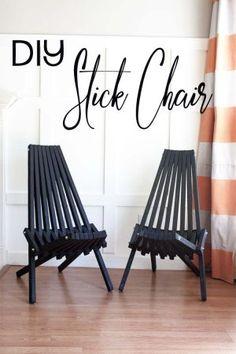 Silla del roble final dan s natural del aceite muebles for Stick furniture plans