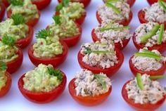 Tomates rellenos de guacamole