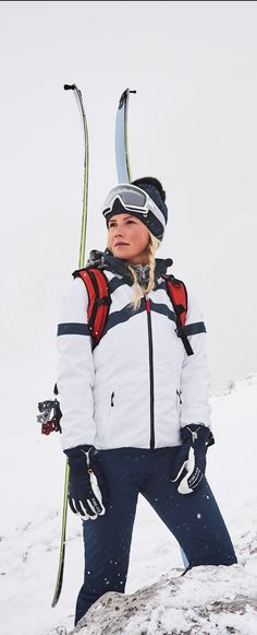 Looks like ski season is just on the horizon. This year's Fire + Ice skiwear for women features an excellent range featuring crisp, clean, classic sporty retro-looks and innovative graphic designs from the work of photographer Ray Demski.