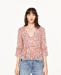 FLORAL PRINT BLOUSE from Zara $36