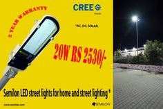 ‪#‎Semilon‬ 20W ‪#‎LED‬ ‪#‎Street‬ ‪#‎lights‬ for ‪#‎top‬ lighting and street lighting. 2 Year warranty.