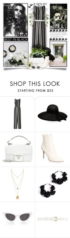 """""""One and Done: Jumpsuits"""" by eula-eldridge-tolliver ❤ liked on Polyvore featuring Miss Selfridge, Eugenia Kim, Prada, Gianvito Rossi, Oscar de la Renta and Yves Saint Laurent"""
