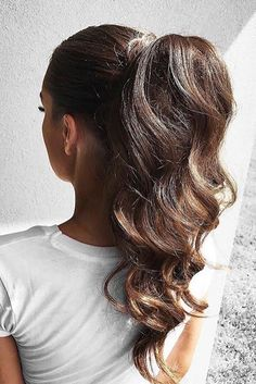elegant ponytail using Ombré Chestnut Luxy hair extensions Cute Ponytail Hairstyles, Cute Ponytails, Easy Hairstyles, Wedding Hairstyles, High Ponytails, Summer Hairstyles, Beautiful Hairstyles, Ponytail Ideas, Ponytail Updo