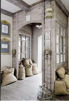 Raw wood shop entrance