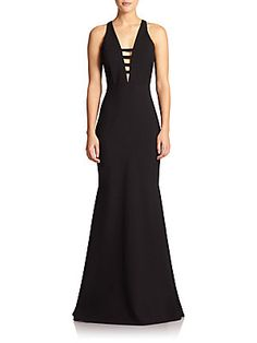 Mason by Michelle Mason Cutout-Front Gown