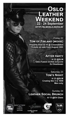 "blufclub: ""Oslo Leather Weekend - Friday 22 September 2017 """