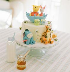 Un gâteau avec Bourriquet.