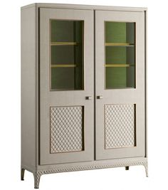 Desirè Large Glass Cabinet With LED Rugiano