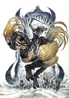 Yoshitaka Amano - Wings of the Goddess - Final Fantasy XI