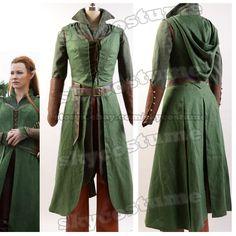 THE Hobbit Desolation OF Smaug Tauriel Dress Cosplay Attire Uniform Suit Cloak | eBay