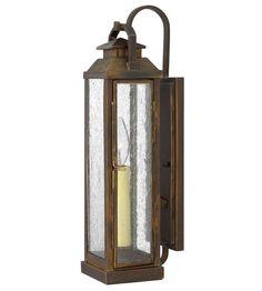 Hinkley Lighting Revere 1 Light Outdoor Wall Lantern in Sienna 1180SN #lightingnewyork #lny #lighting