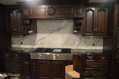 Granite countertop, Dekton Backsplash!