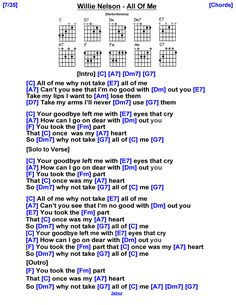 Ukulele Chords Songs, Lyrics And Chords, Guitar Songs, Music Lyrics, Tab, Bass Guitar Chords, Guitar Sheet Music, Willie Nelson, Me Me Me Song