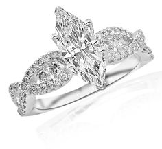 1.61 Carat Designer Twisting Eternity Channel Set Four Prong Diamond Engagement Ring (J Color, SI2 Clarity) -... $2,740.00