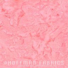 Petit Four Pink Warm Pink Medium Pink (1895-576) Hand Dyed Watercolor Bali Batik by Hoffman Fabrics - Yardage