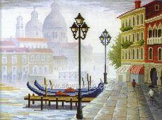 Buy City On Water Cross Stitch Kit Online at www.sewandso.co.uk