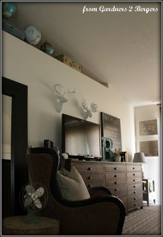 dresser with TV instead of mirror / living room