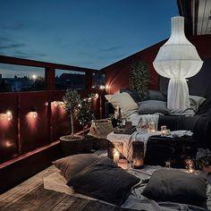 Cozy Scandinavian summer balcony in summer Stylish ideas and inspiration for . - German Design - Cozy Scandinavian summer balcony in summer Stylish ideas and inspiration for … – # cozy - Terrasse Design, Patio Design, Exterior Design, Interior And Exterior, House Design, Outdoor Balcony, Outdoor Spaces, Outdoor Living, Balcony Ideas