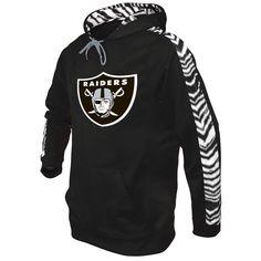 Oakland Raiders Zubaz Solid Hoodie - Black/Silver