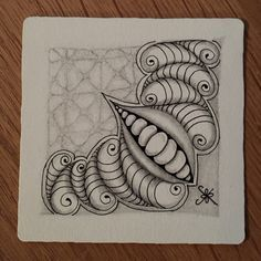 https://flic.kr/p/QvEurW | Square One: Purely Zentangle FB Page - Pausholov | Pausholov and graphite 'Nzeppel taking a back seat.