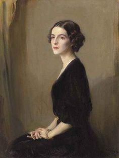 Philip Alexius de Laszlo - Portrait of Mrs Virginia Heckscher McFadden