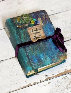 Rustic woodland wedding guest book or wedding scrapbook photo album hand bound with a hard back painted cover with a customised title on a scroll. Custom made in any color scheme. USES •guest book •photo album •photo booth album/guest book •scrapbook album SIZE approx 8.5x6 [ 22cm x