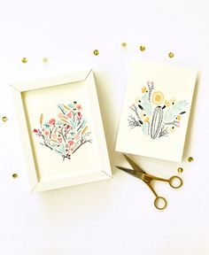 Frameable Collection Floral Study #1 Pack of Cards 5x7 inch art print cards