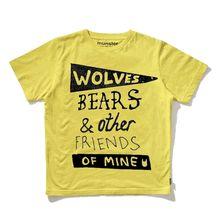 Munster Kids Bear Hug Yellow Tee. So stinking cute. Too bad it is 40 DOLLARS.