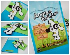 |allDesign|: TARJETAS DE CUMPLEAÑOS INFANTIL · Doki Event Themes, Party Themes, Doki, Birthday Invitations, First Birthdays, Scrapbook, Cards, Events, Studio
