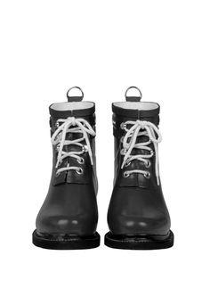 Ilse Jacobsen black Rain Boots, rubber boots, ankle boots, waterproof,  shoes, b3f12e7a4e