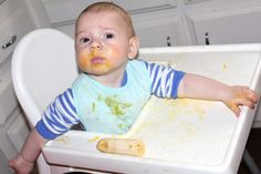 Baby Oliver is Eating Solids - Why He's Skipping the Rice Cereal and Eating Liver, Egg Yolks and Sour Cream
