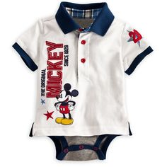 Mickey Mouse Polo Disney Cuddly Bodysuit for Baby - View 1