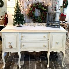 Gorgeous glazed buffet ready to grace your holiday event this season.  Available for $299 at Always Never Done in Salunga Pa.  Buffet was painted in General Finishes Linen Paint (@generalfinishes) glazed with Caromal Colors (@caromalcolours) and sealed in Daddy Vans Lavender Wax (@daddyvans).
