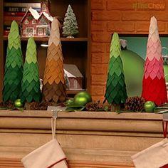 #ClintonsCraftCorner: Ombre Felt Christmas Tree! #DIY #Craft #ChristmasDecor
