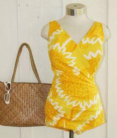 Vintage Yellow Swimsuit