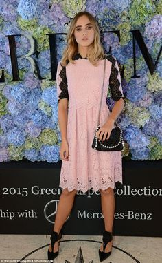 Style star: She also headed to the Erdem Green Carpet Challenge Collection bash, dressed i...