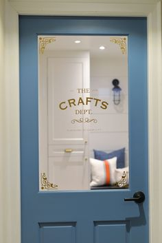 craft room - craft room ideas ` craft room organization ` craft room storage ` craft room design ` craft room ` craft room office ` craft room ideas on a budget ` craft room decor Craft Room Design, Craft Room Decor, Craft Room Storage, Room Organization, Basement Craft Rooms, Laundry Craft Rooms, Sewing Room Design, Laundry Room, Door Crafts