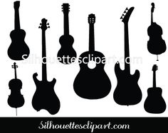 Guitar Silhouette Clipart Graphics in Vector Format – Silhouettes Vector Music Silhouette, Silhouette Vector, Infused Water Bottle, Fitness Gifts, Vector Format, Cool Gadgets, Vector Graphics, Vector Design, Something To Do