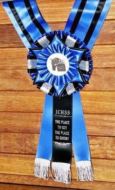 A Majestic neck sash with sparkle accents and fringe. Horse Show Ribbons, Custom Awards, Ribbon Rosettes, Showing Livestock, Custom Badges, Custom Printing, Custom Ribbon, Dog Show, Print Logo