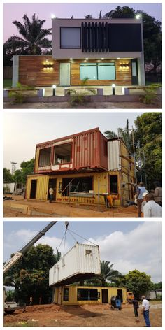 Shipping Container Home in Abuja – NigeriaYou can find Small house design and more on our website.Shipping Container Home in Abuja – Nigeria Shipping Container Home Designs, Container House Design, Tiny House Design, Modern House Design, Shipping Containers, Shipping Container Cabin, Building A Container Home, Container Buildings, Container Architecture