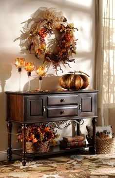 Warm harvest decor for your living space.