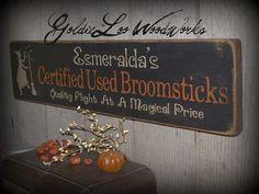 Primitive Folk Art Halloween Esmeralda's by GoldieLooWoodworks, $23.00