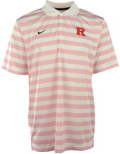 Be sure to grab the Nike NCAA Preseason polo shirt, featuring Dri-FIT technology and professional golf styling. With contrast stripes and a raised Rutgers Scarlet Knights logo at the chest, you might get mistaken for an assistant coach. Polo collar Pullover style