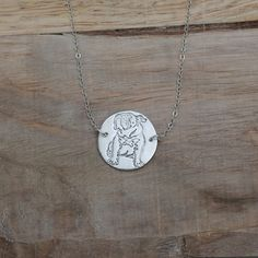Bulldog fine silver necklace by ALMrozarka on Etsy