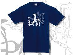 T-shirt Boy Short Sleeve A Bike in the City by KLogBarcelona