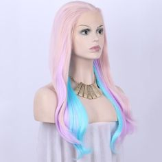 Long Colorful Hair  Material: Heat Resistant Synthetic Hair Fiber Cap Construction: Lace Front Wig with Combs and Adjustable Straps   #hair #hairstyle #instahair #TagsForLikes #hairstyles #haircolour #haircolor #hairdye #hairdo #haircut #longhairdontcare #braid #fashion #instafashion #straighthair #style #straight #hairoftheday #hairideas #perfectcurls #hairfashion #hairofinstagram #coolhair #longhair #straighthair #pinkhair #blondecurlyhair