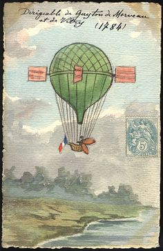 Guyton de Morveau set flight for Dijon, France steering the balloon's course using oars, sails and ropes and paddles.