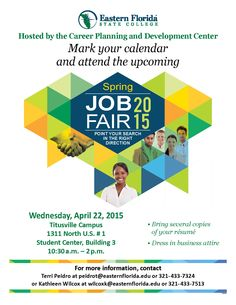 Career fair flyer career center ideas pinterest marketing eastern florida state college job fair information maxwellsz