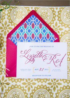 fancy wedding invitations @weddingchicks
